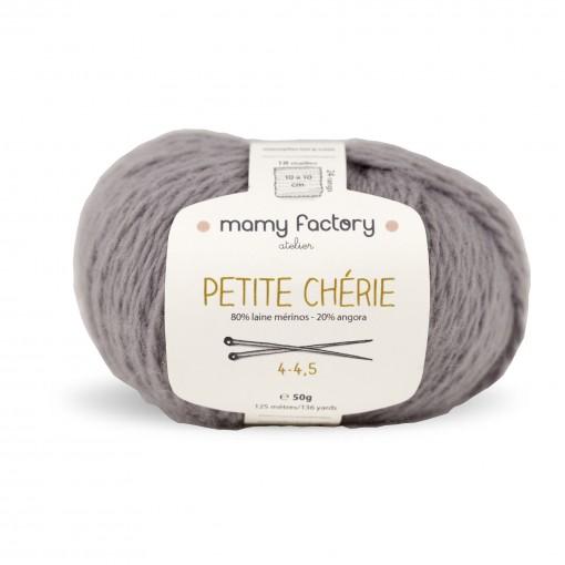 Laine naturelle Petite chérie - Mamy Factory - Gris Perle