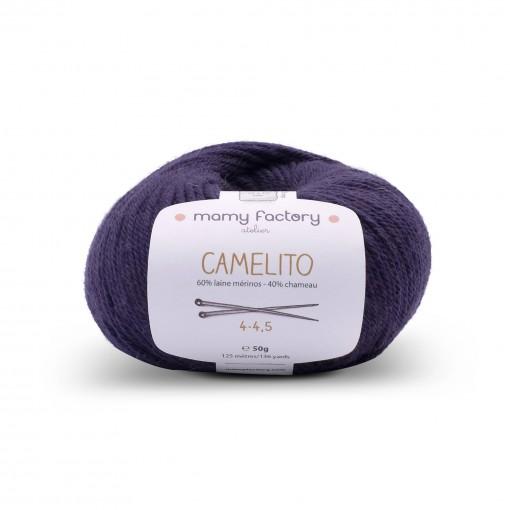 Laine naturelle Camelito - Mamy Factory - Bleu indigo