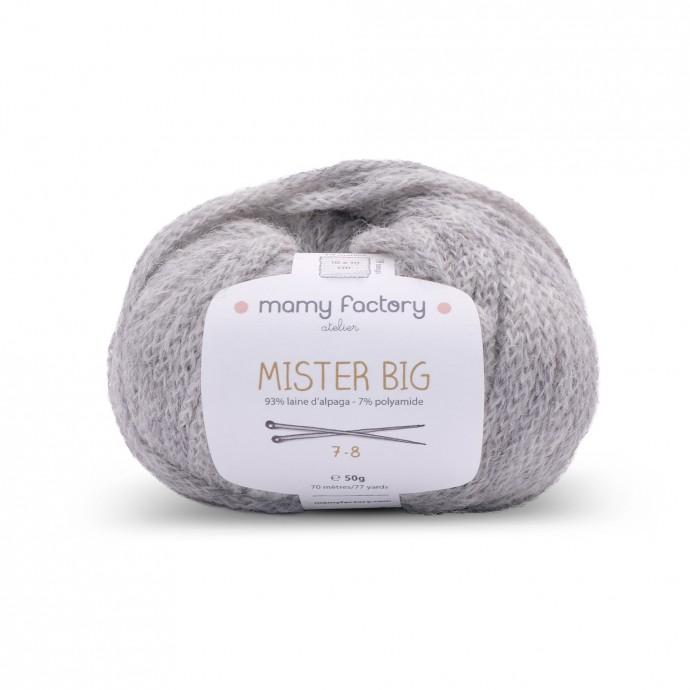 Laine naturelle Mister big - Mamy Factory - Gris souriceau