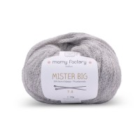 Laine naturelle Mister big - Mamy Factory - Gris souriceau