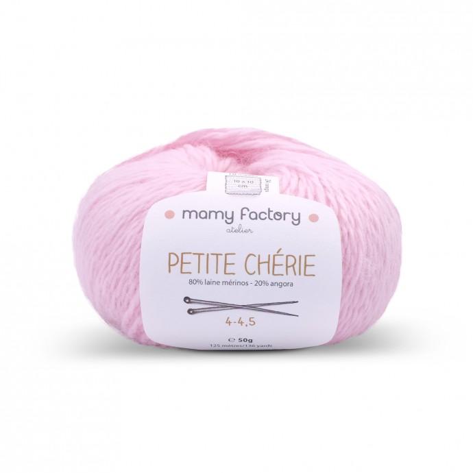 Laine naturelle Petite chérie - Mamy Factory - Rose bonbon