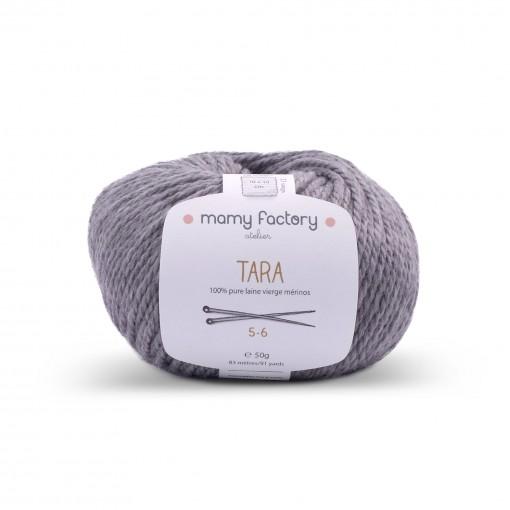 Laine naturelle Tara - Mamy Factory - Gris souris