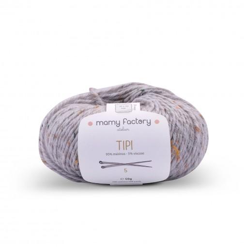 Laine naturelle Tipi - Mamy Factory - Gris souriceau