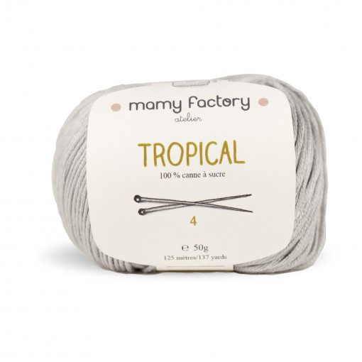 Laine naturelle Tropical - Mamy Factory - Gris Souriceau