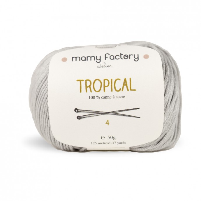 Laine naturelle Tropical - Mamy Factory - Gris Souriceau