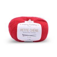 Laine naturelle Petite chérie - Mamy Factory - Rouge