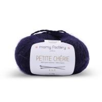 Laine naturelle Petite chérie - Mamy Factory - Bleu marine