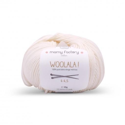 Laine naturelle Woolala - Mamy Factory - Ecru