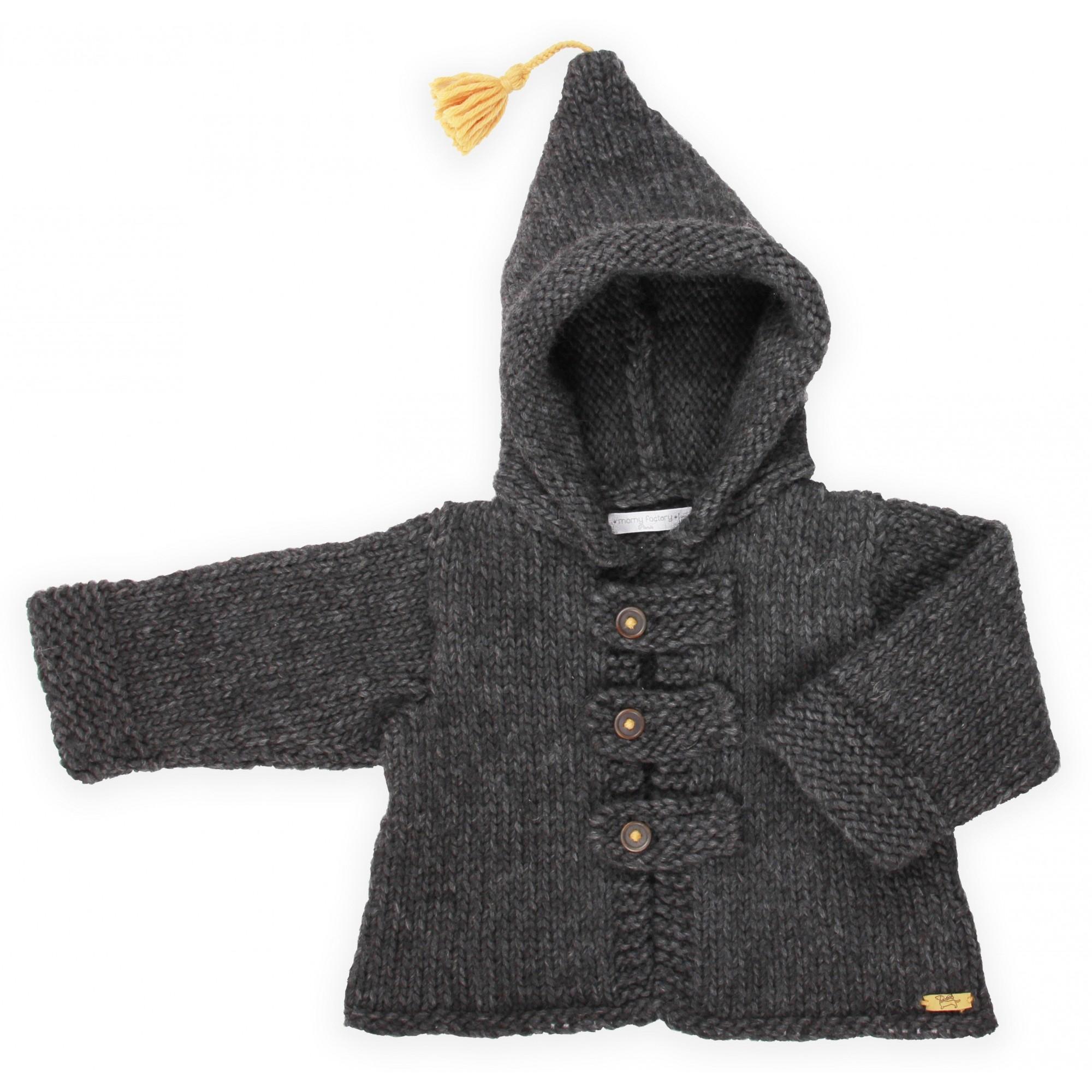 bdda3a15d2bfd Manteau bébé   enfant tricoté laine   alpaga tricoté par nos mamies.