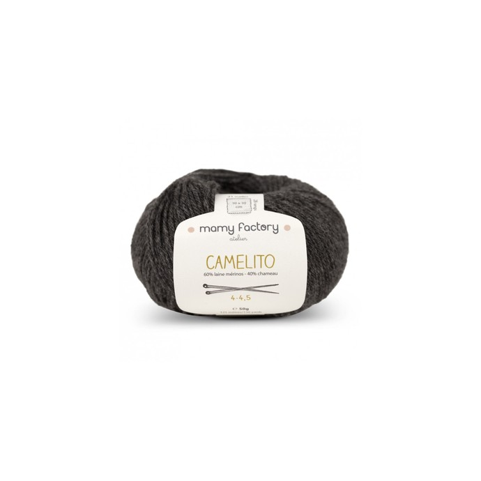Laine naturelle Camelito - Mamy Factory - Anthracite
