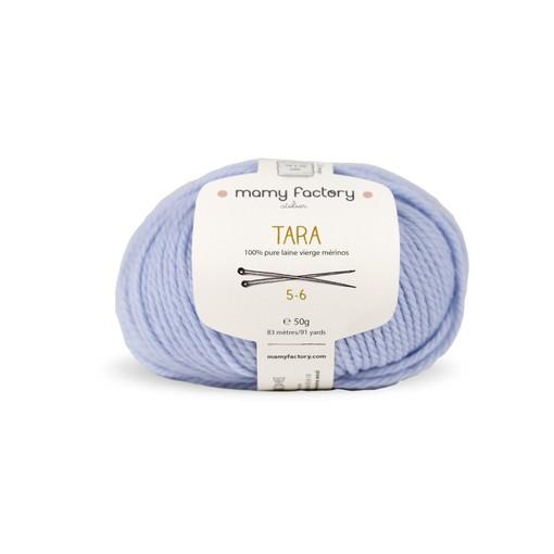 Laine naturelle Tara - Mamy Factory - Bleu Ciel