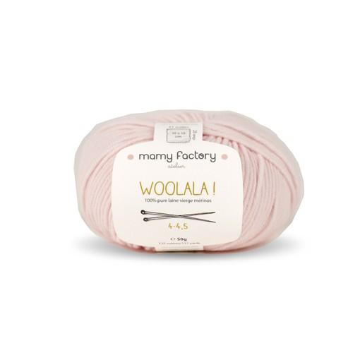 Laine naturelle Woolala - Mamy Factory - Rose ballerine