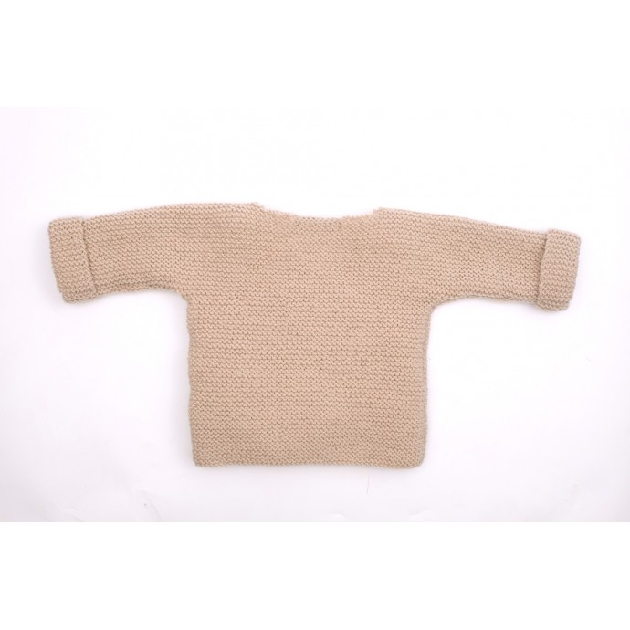 Marceline cardigan beige back