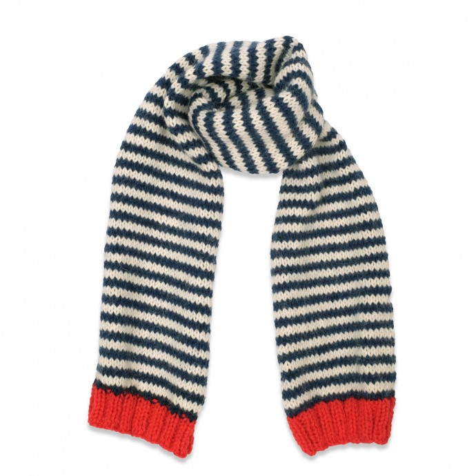 Hubert scarf with red details