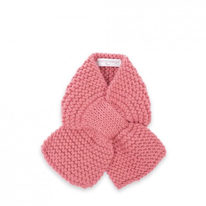 Echarpe Léontine pour bébé - coloris rose candy - en mérinos