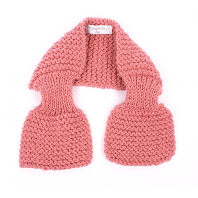 Echarpe Léontine pour bébé - coloris rose candy - détail