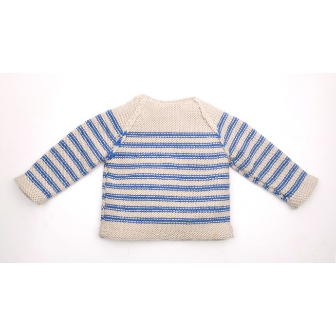 Georges Sweater blue stripes back