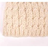 Bonnet Gabriel pour bébé - coloris écru - détail