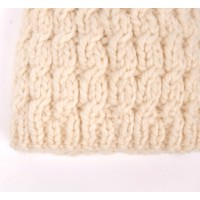Gabriel cap for baby - natural white color - detail