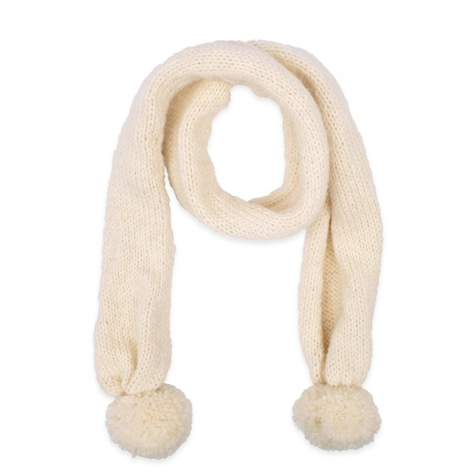 Emile scarf for baby - natural white color