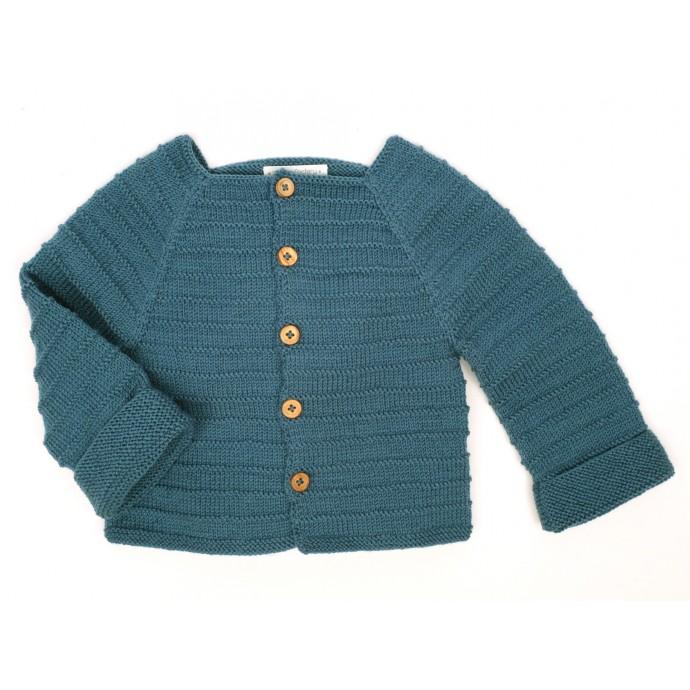 Gilet Louis pour bébé - coloris bleu canard - autre vue