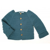 Louis Cardigan for baby - peacock blue - autre vue