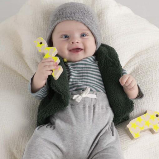 """Retrouvez ce modèle dans le livre Mamy Factory """"Petits tricots pour bébé"""" aux éditions Marie-Claire"""