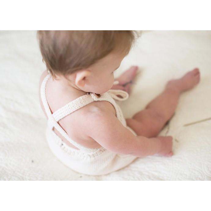Barboteuse Félicie pour bébé - coloris écru -