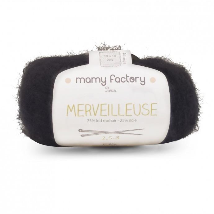 Laine naturelle Merveilleuse - Mamy Factory - Noir