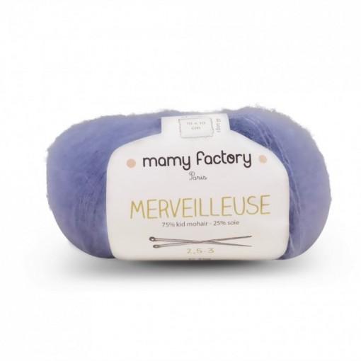 Laine naturelle Merveilleuse - Mamy Factory - Bleu Ciel