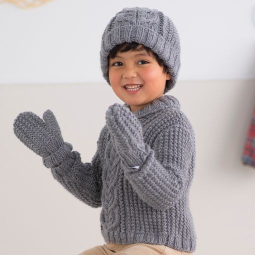 Modele tricot PDF - Moufles Lucas
