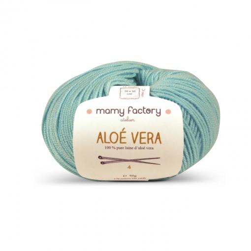 Laine naturelle Aloe Vera - Mamy Factory - Vert aloe