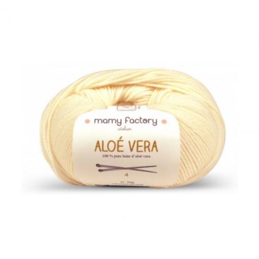 Laine naturelle Aloe Vera - Mamy Factory - Ecru