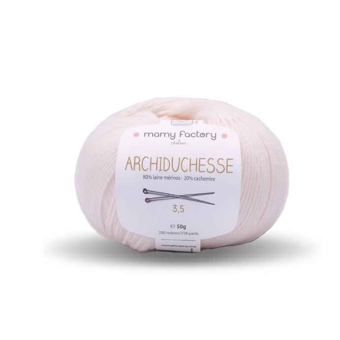Laine naturelle Archiduchesse - Mamy Factory - Ecru