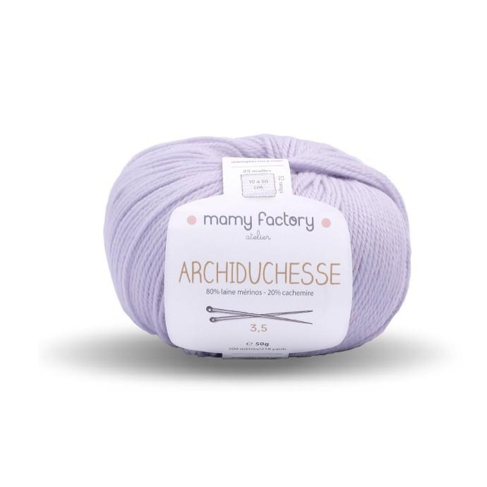 Laine naturelle Archiduchesse - Mamy Factory - Gris perle