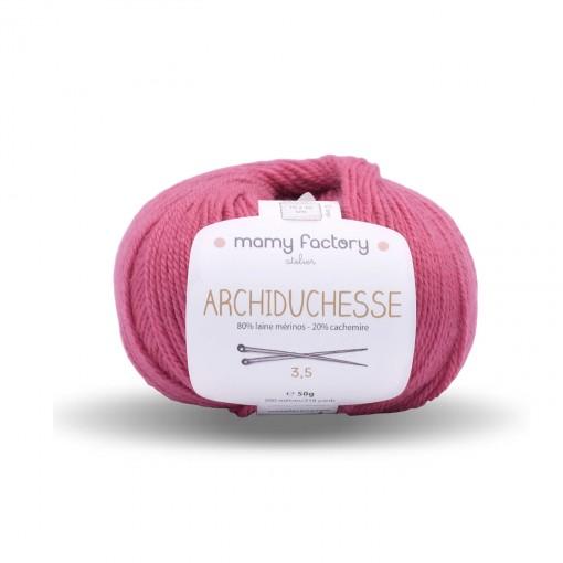 Laine naturelle Archiduchesse - Mamy Factory - Framboise