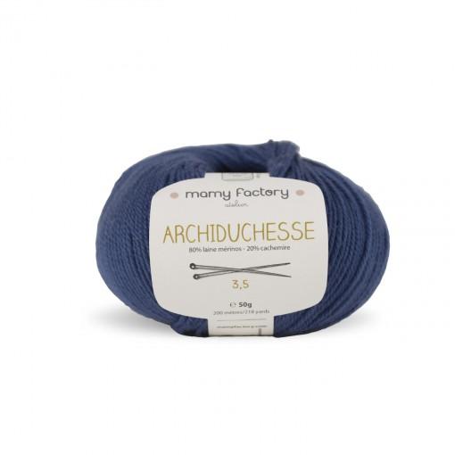 Laine naturelle Archiduchesse - Mamy Factory - Bleu jean