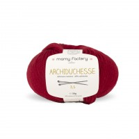 Laine naturelle Archiduchesse - Mamy Factory - Carmin