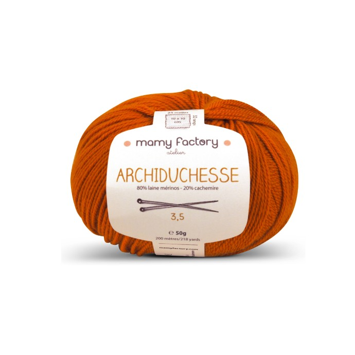 Laine naturelle Archiduchesse - Mamy Factory - Terra cotta
