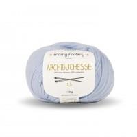 Laine naturelle Archiduchesse - Mamy Factory - Bleu ciel