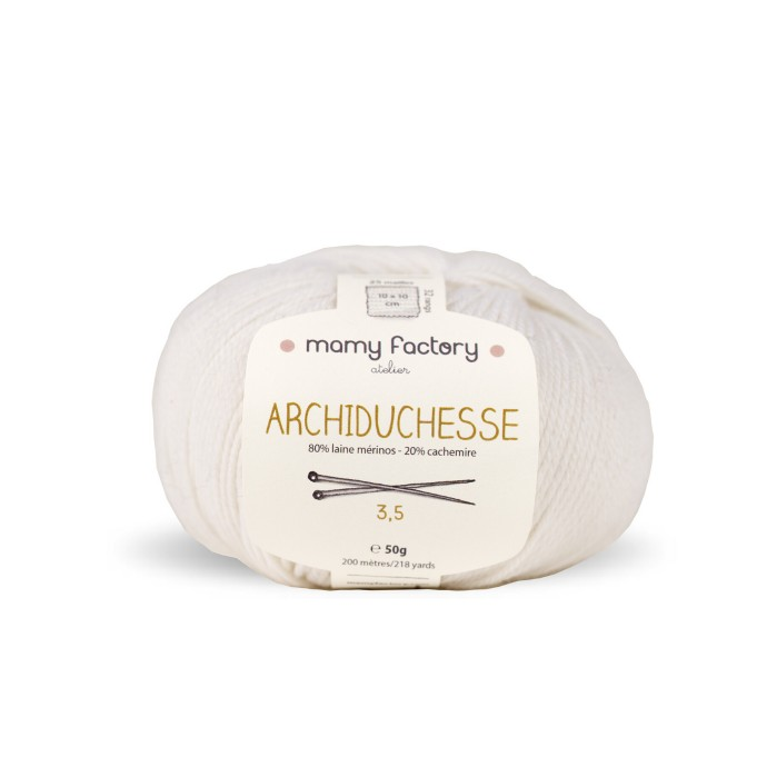 Laine naturelle Archiduchesse - Mamy Factory - Blanc