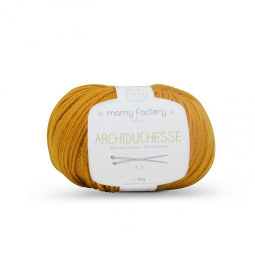 Laine naturelle Archiduchesse - Mamy Factory - Ocre