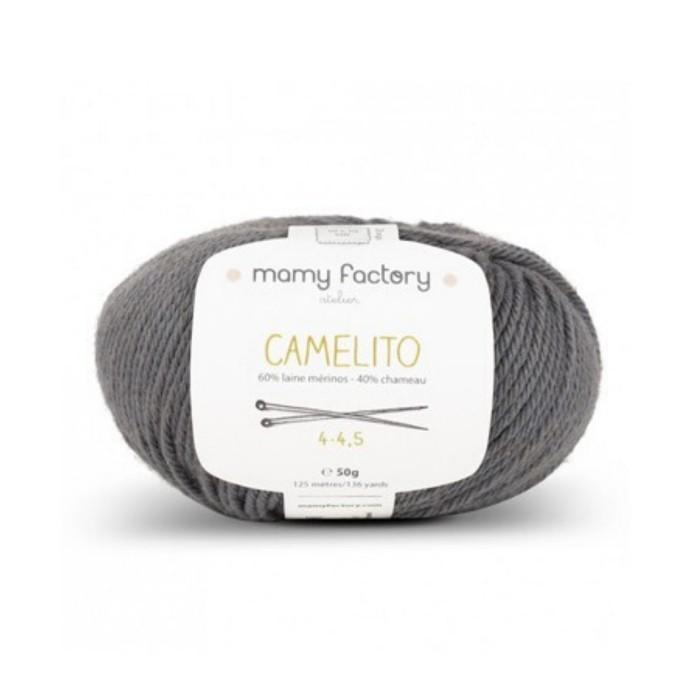 Laine naturelle Camelito - Mamy Factory - Gris