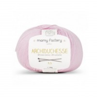 Laine naturelle Archiduchesse - Mamy Factory - Rose