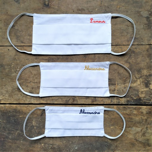 Lot de 2 masques barriere personnalisable pour adultes