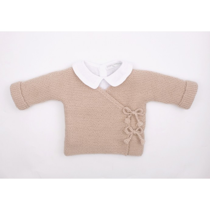 Marceline cardigan with Mamy Factory shirt in washed linen