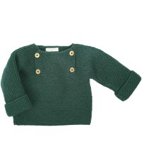 Henri sweater for baby - London green color - merino wool