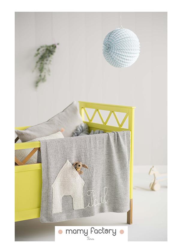 couverture bebe enfant personnalisable laine