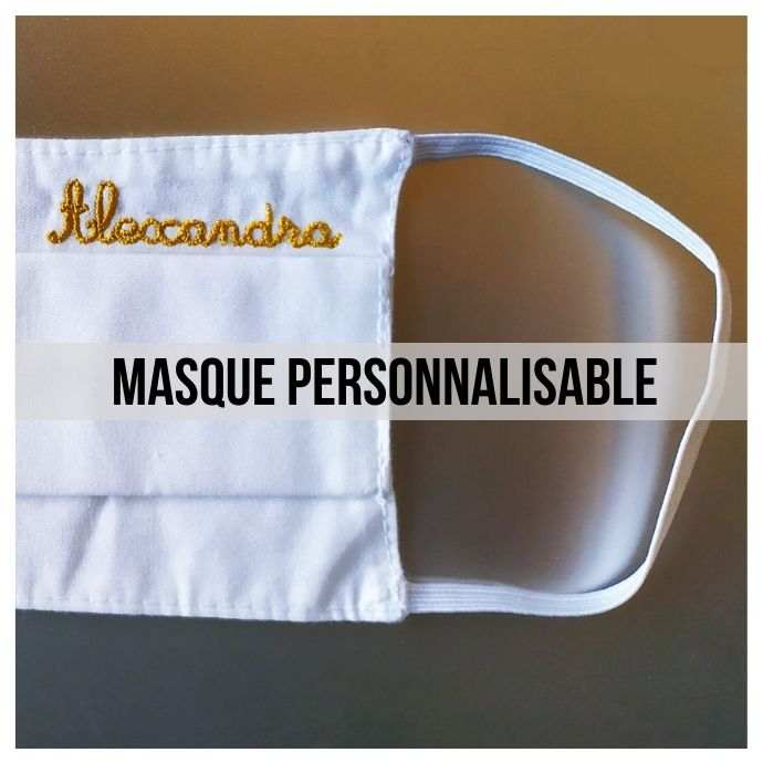 masque barriere personnalisable